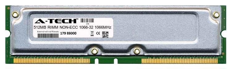 512MB Module 1066-32ns 533MHz NON-ECC RD RIMM Desktop 184-pin Memory Ram