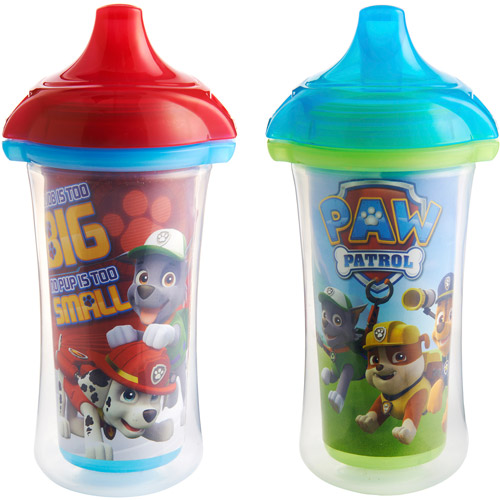 Munchkin Paw Patrol Click Lock 9oz Insulated Sippy Cup, BPA-Free, 2-Pack