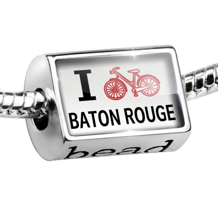 Bead I Love Cycling City Baton Rouge Charm Fits All European - Party City Baton Rouge