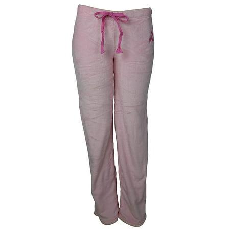 Marilyn Monroe Gina Intimates Women's Super Soft Fluffy Fuzzy Pink Ribbon Pajama