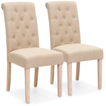 Best Choice Products Set of 2 Tufted High Back Parsons Dining Chairs - Back Parsons Dining Chair