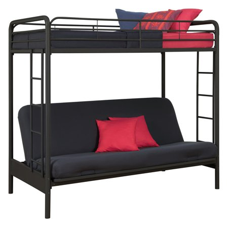 Dhp Twin Over Futon Metal Bunk Bed Multiple Colors