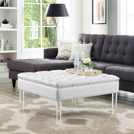 Leather Square Coffee Table (Inspired Home Kayla Square Faux Leather Coffee Table Ottoman)