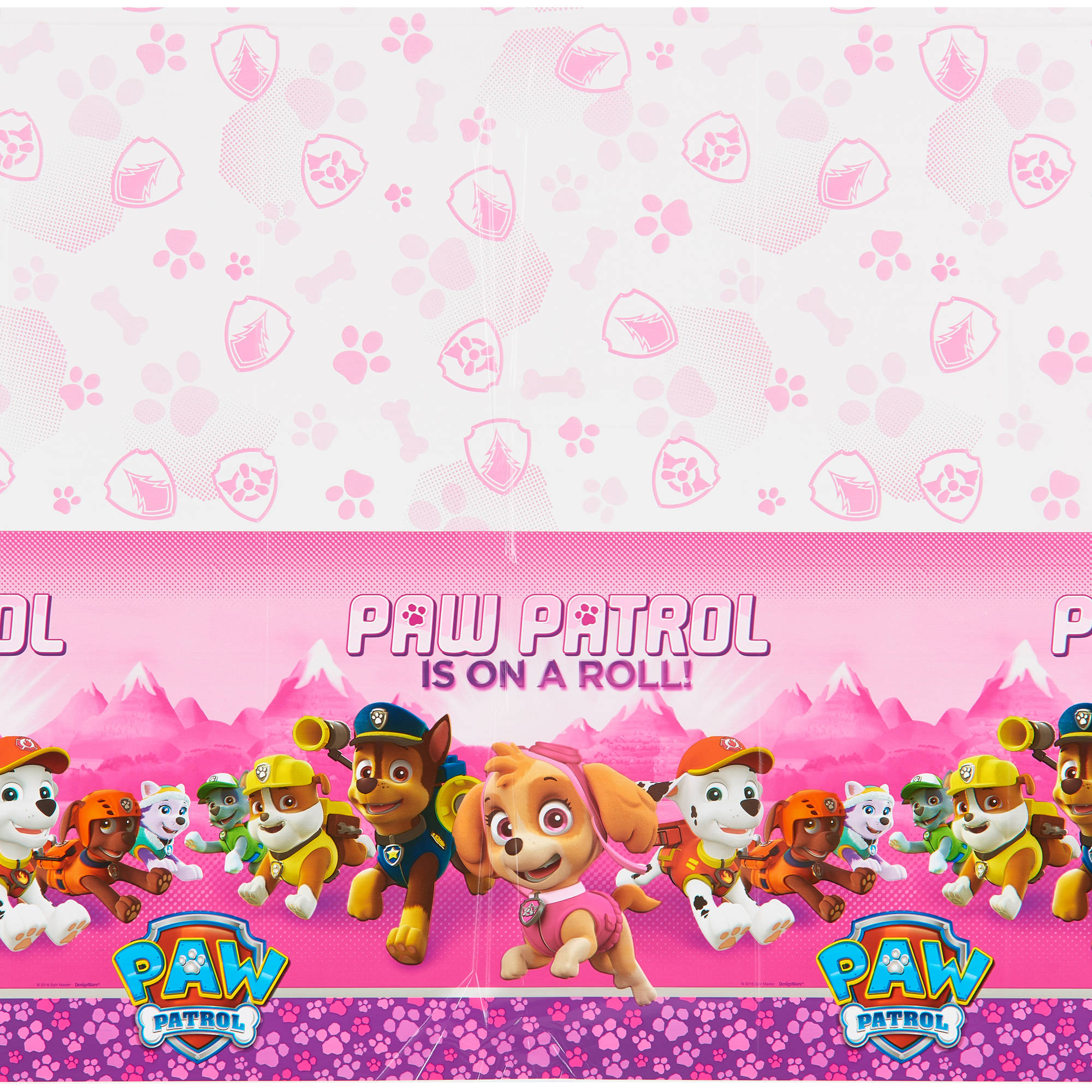 "PAW Patrol Pink Plastic Table Cover 54"" x 96"""