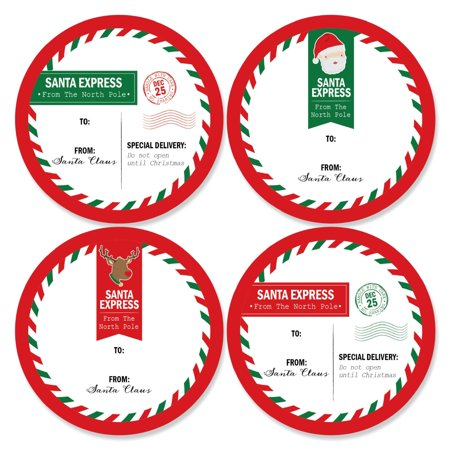 Santa's Special Delivery - Large Christmas From: Santa Stickers Gift Tags - Set of (Santa Gift Tags)