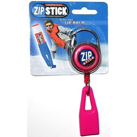 Zip Stick Retractable Lip Balm Holder - Pink - Zip Lips Halloween