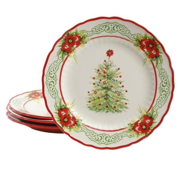 Pioneer Woman Walmart Christmas Salad Dessert Plate Set Of 4