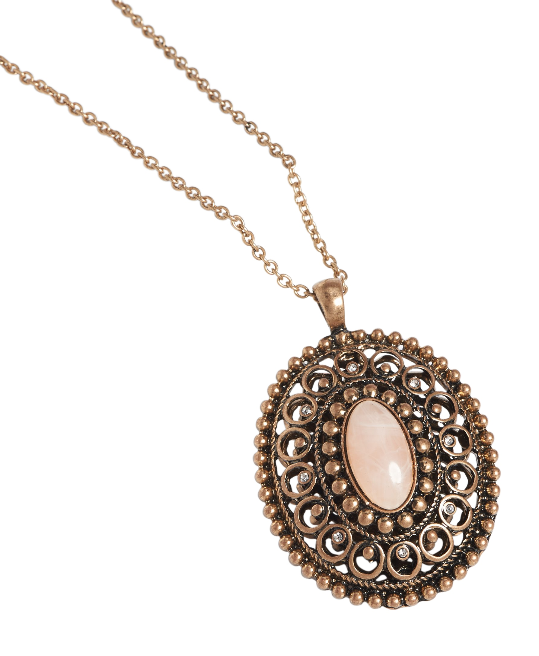Reversible Oval Pendant Necklace
