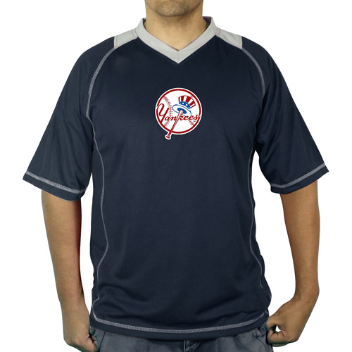 MLB NY Yankees Men's vneck poly jersey