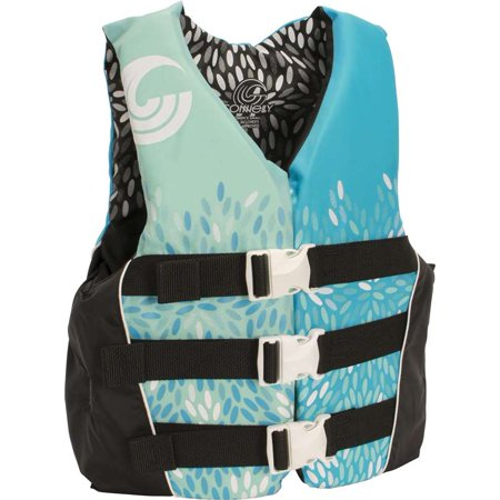 CWB Connelly Womens Nylon Life Water Vest Slimming Safe Jacket, Blue, Large