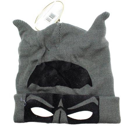 Batman Eyes (DC Comic's Batman Mask Eyes and Ears Gray Character Beanie )