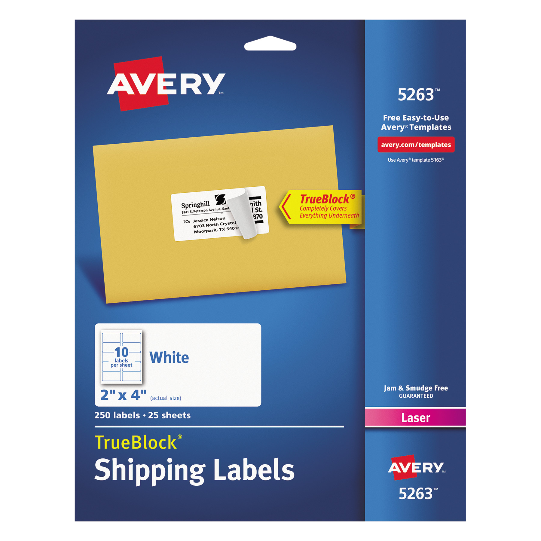 Averyr Shipping Labels With Trueblockr Technology For Laser