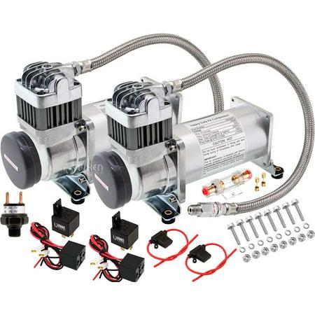 Vixen Horns 200 PSI Heavy Duty Train Horn/Suspension/Air Ride/Bag Air  Compressor/Pump with 1/4