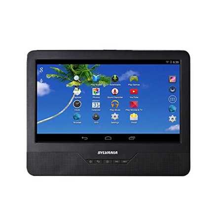 SYLVANIA SLTDVD9200 9-inch Android Tablet With Integrated Portable DVD Player - Manufacturer Refurbished (Dvd Player Tablet)