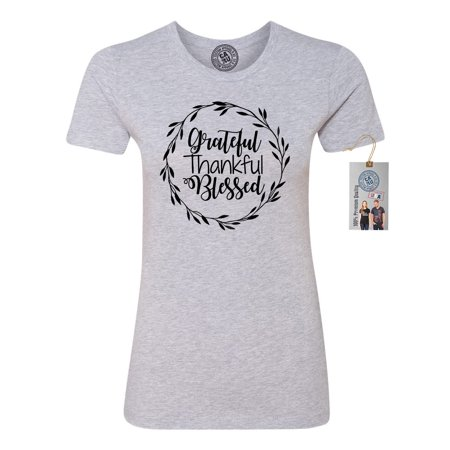 Thankful Grateful Blessed (Grateful Thankful Blessed Thanksgiving Womens Short Sleeve)