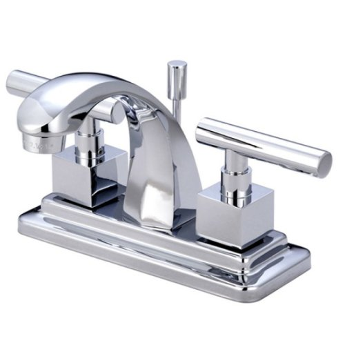 """Kingston Brass Claremont Two Handle 4"""" Centerset Lavatory Faucet with Brass Pop-up - image 1 of 1"""