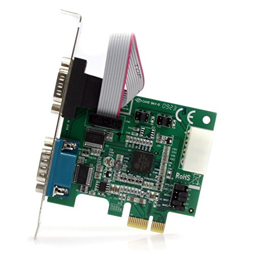 StarTech.com 2 Port Native PCI Express RS232 Serial Adapter Card with 16950 UART (PEX2S952)