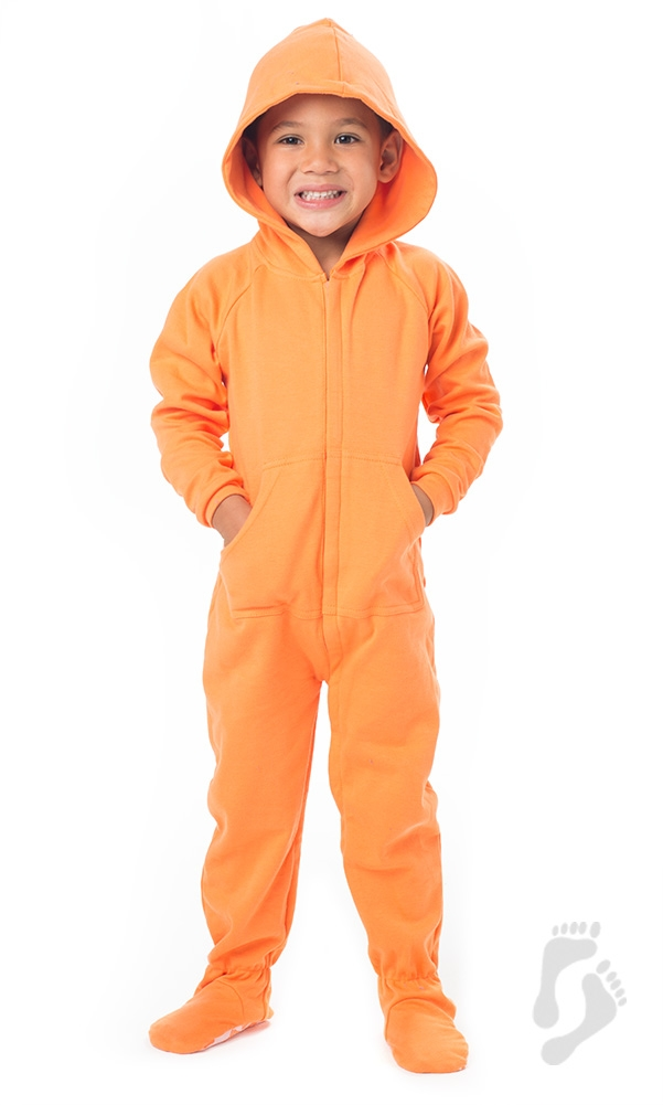 f7a6f6fed Footed Pajamas - Footed Pajamas - Goldfish Orange Toddler Hoodie ...
