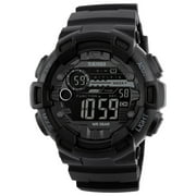 SKMEI 1243 Digital Electronic Men Watch Fashion Casual Outdoor Sports Male Wristwatch Dual Time Date Week Countdown Chrono Alarm 5ATM Waterproof Backlight