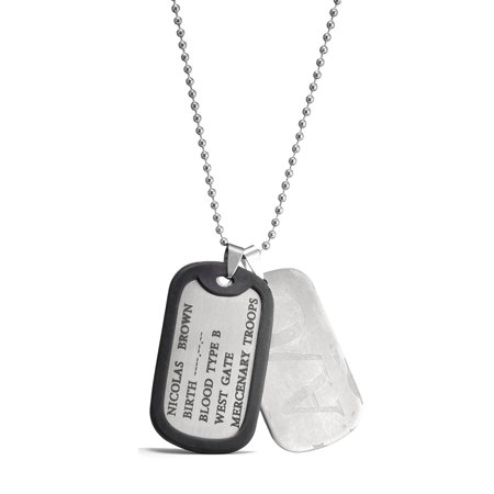GANGSTA Nicolas Brown Military Card Cosplay Necklace with Chain A/O Dog Tag ()