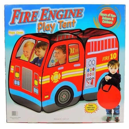 size 40 db696 46acf Fire Truck Engine Pop-Up Play Tent Playtent House Used Indoors or Outdoors  PlayHouse Toys for Kids