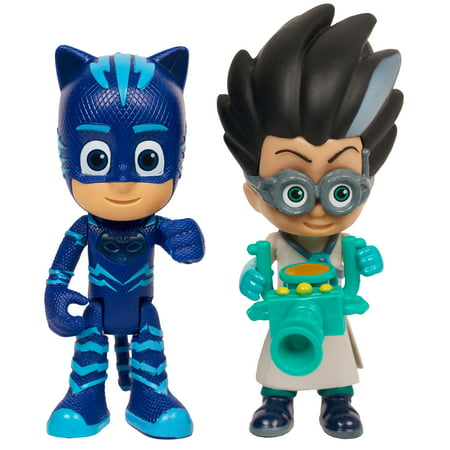 PJ Masks Light Up Hero and Villian 2-Pack Figure Set - Catboy vs. Romeo (Tony Romo Halloween)