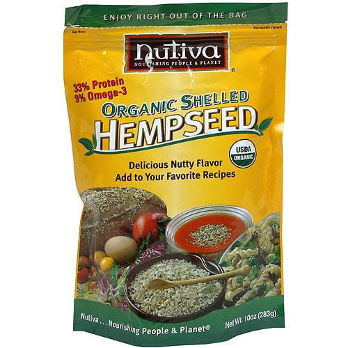 Nutiva Organic Shelled Hemp Seed, 8 oz (Pack of 6)