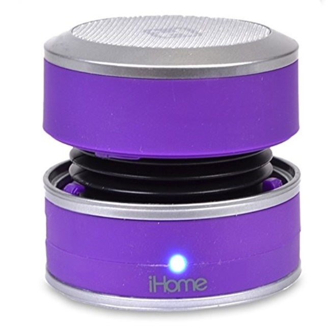 iHome IBT60UC Portable Bluetooth Wireless Daisy Chain Rechargeable Speaker w/3.5mm Auxiliary Jack (Purple)