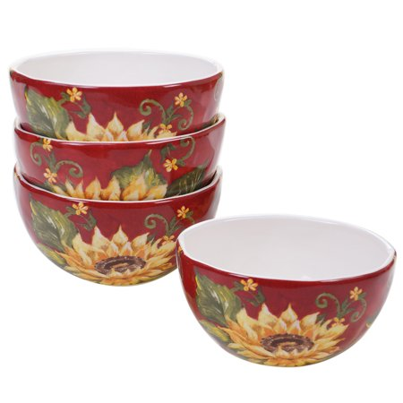 Sunset Sunflower Set/4 Ice Cream Bowl 6
