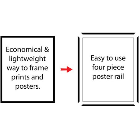 mainstays 24x36 basic poster picture frame black set of 2 walmartcom