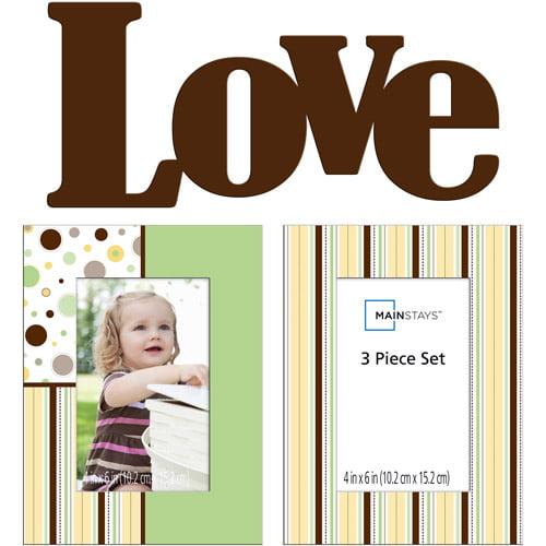 Mainstays 3-Piece Baby Frame Set
