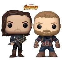 Warp Gadgets Bundle - Funko Pop Marvel Infinity War - Bucky W/ Gun and Captain America (2 Items)