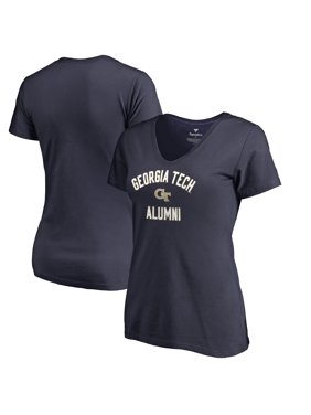 Georgia Tech Yellow Jackets Fanatics Branded Women's Plus Sizes Team Alumni T-Shirt - Navy