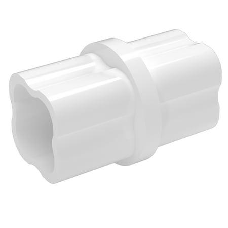 FORMUFIT F001ICO-WH-10 Internal PVC Coupling, Furniture Grade, 1
