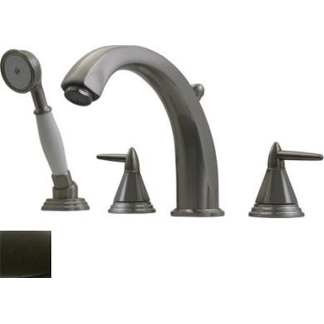 Whitehaus Collection  514. 453TF-ORB 7. 87 inch Blairhaus Monroe deck mount tub filler set- Oil Rubbed Bronze