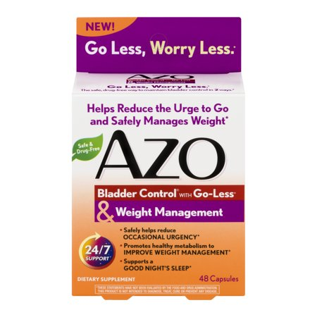 AZO Bladder Control Weight Management Supplement 48 Capsules