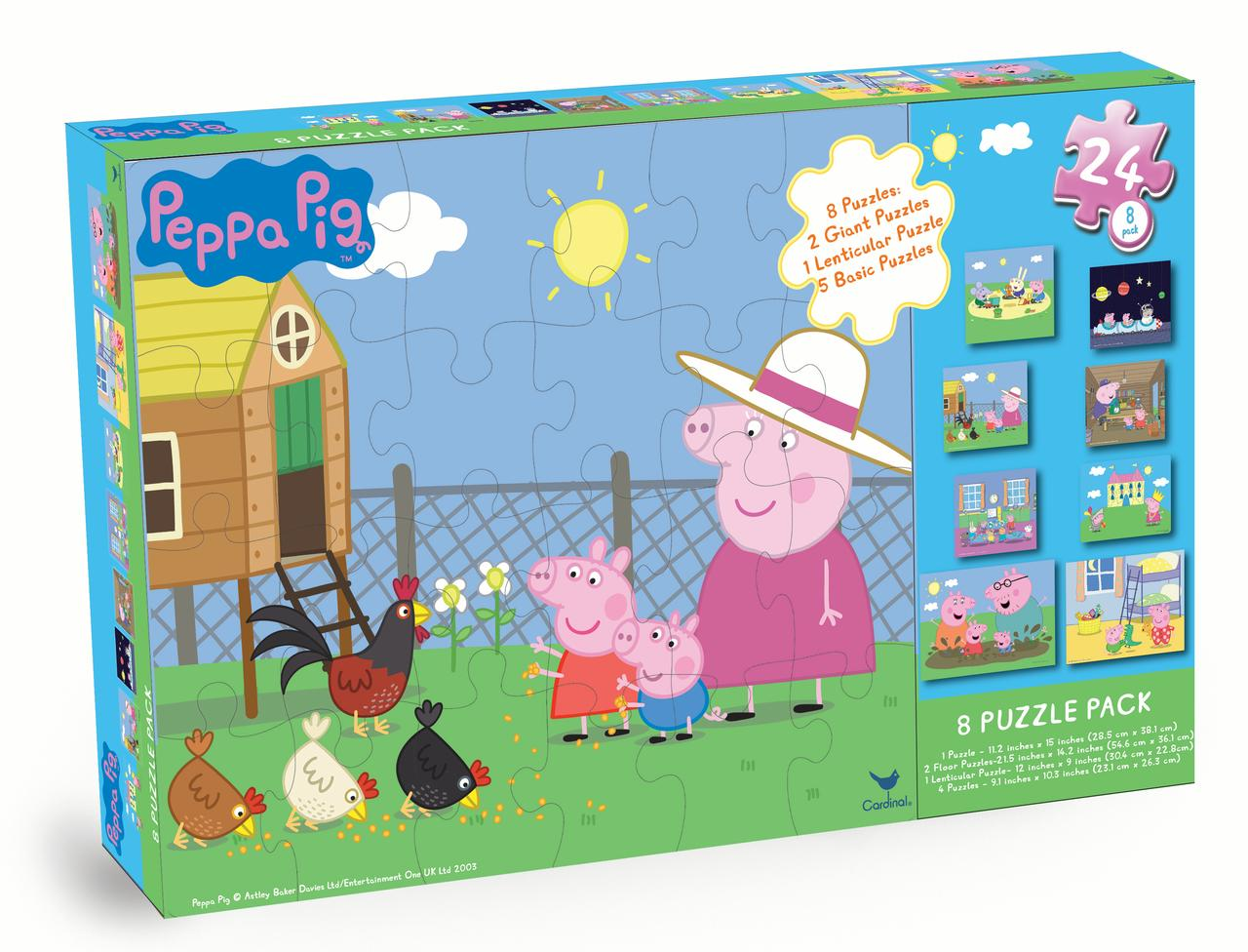Peppa Pig 8-Pack Puzzle Box by Spin Master Ltd