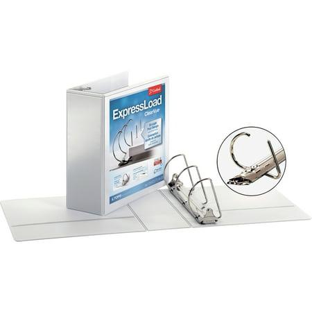 Cardinal ExpressLoad ClearVue Locking D-Ring Binder, 4