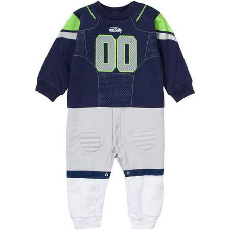 sports shoes a5986 6484e Gerber - Seattle Seahawks Baby Footie Bodysuit - Walmart.com