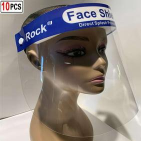 Details about  /100 Pack Face Shields Unisex Reusable Plastic Face Shields for Full 100 pcs