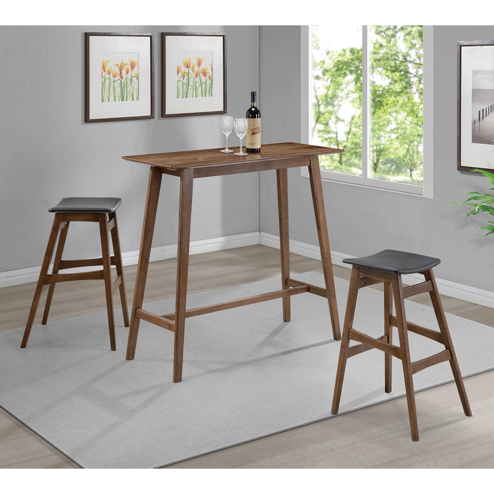 Coaster Company Mid-Century Modern Rectangular Bar Table, Walnut