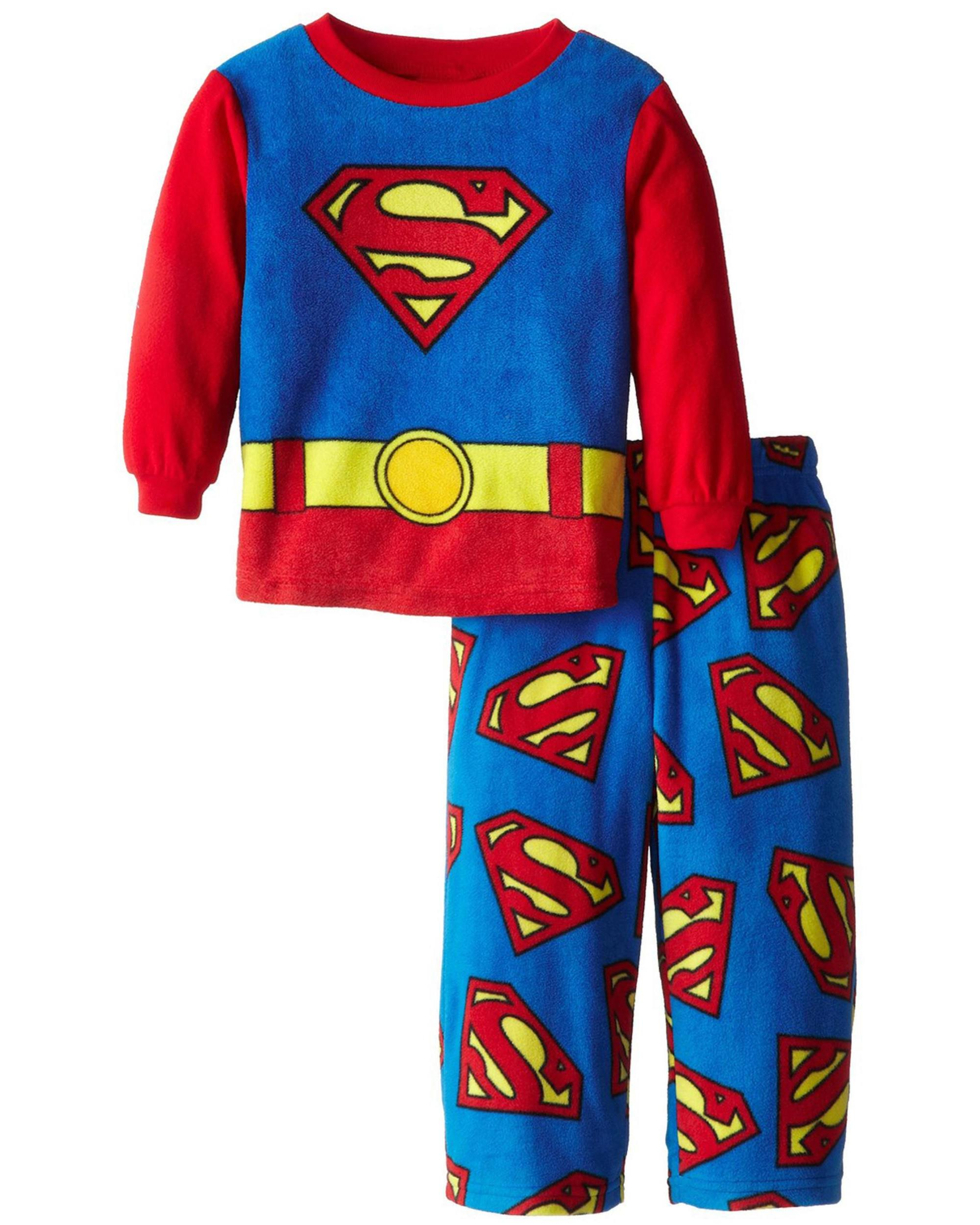 DC Comics Superman Fleece Boys Pajama Set, Sizes 4-10, Blue, Size: 8