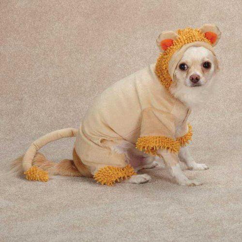Casual Canine Jungle King Dog Costume, Large, Orange