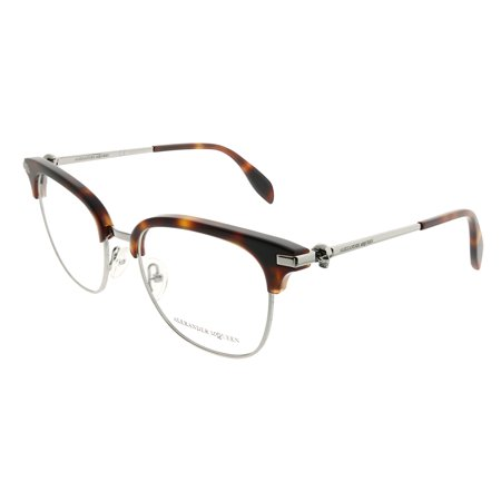 Alexander McQueen Iconic AM 0152O 003 Unisex  Square (Iconic Glasses Frames)