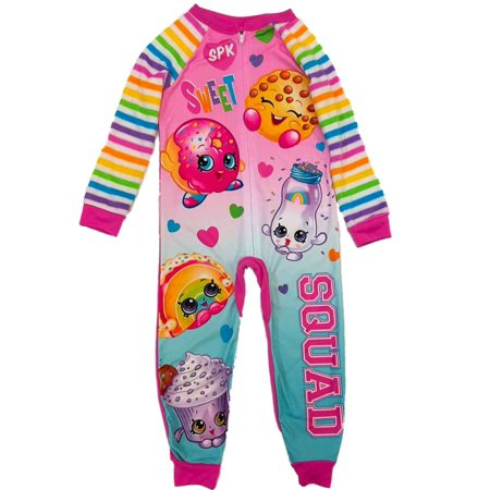 Union Striped Suit (Girls Pink Shopkins Blanket Sleeper Rainbow Stripe Union Suit)