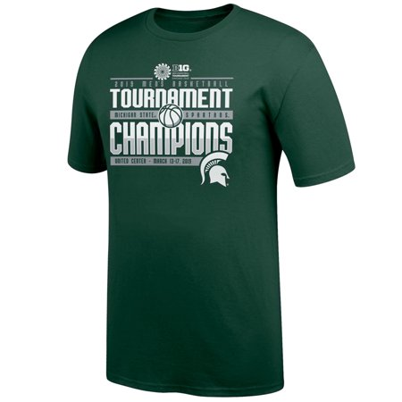 Michigan State Spartans Top of the World 2019 Big Ten Men's Basketball Conference Tournament Champions Locker Room T-Shirt -