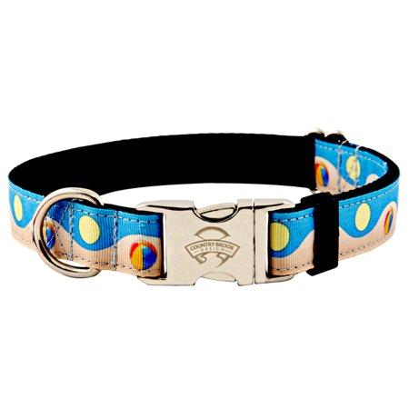 Country Brook Design  Premium Beachball And Sun Ribbon Dog Collar
