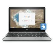 "Refurbished HP 11-v025wm, 11.6"" Touch Chromebook, Chrome OS, Intel Celeron N3060, 4GB Memory, 16GB eMMC Storage"