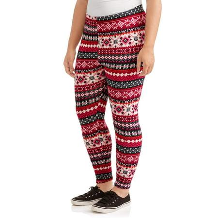 7da213158a6691 Faded Glory - Women's Plus Fleece Lined Novelty Printed Legging 2 ...