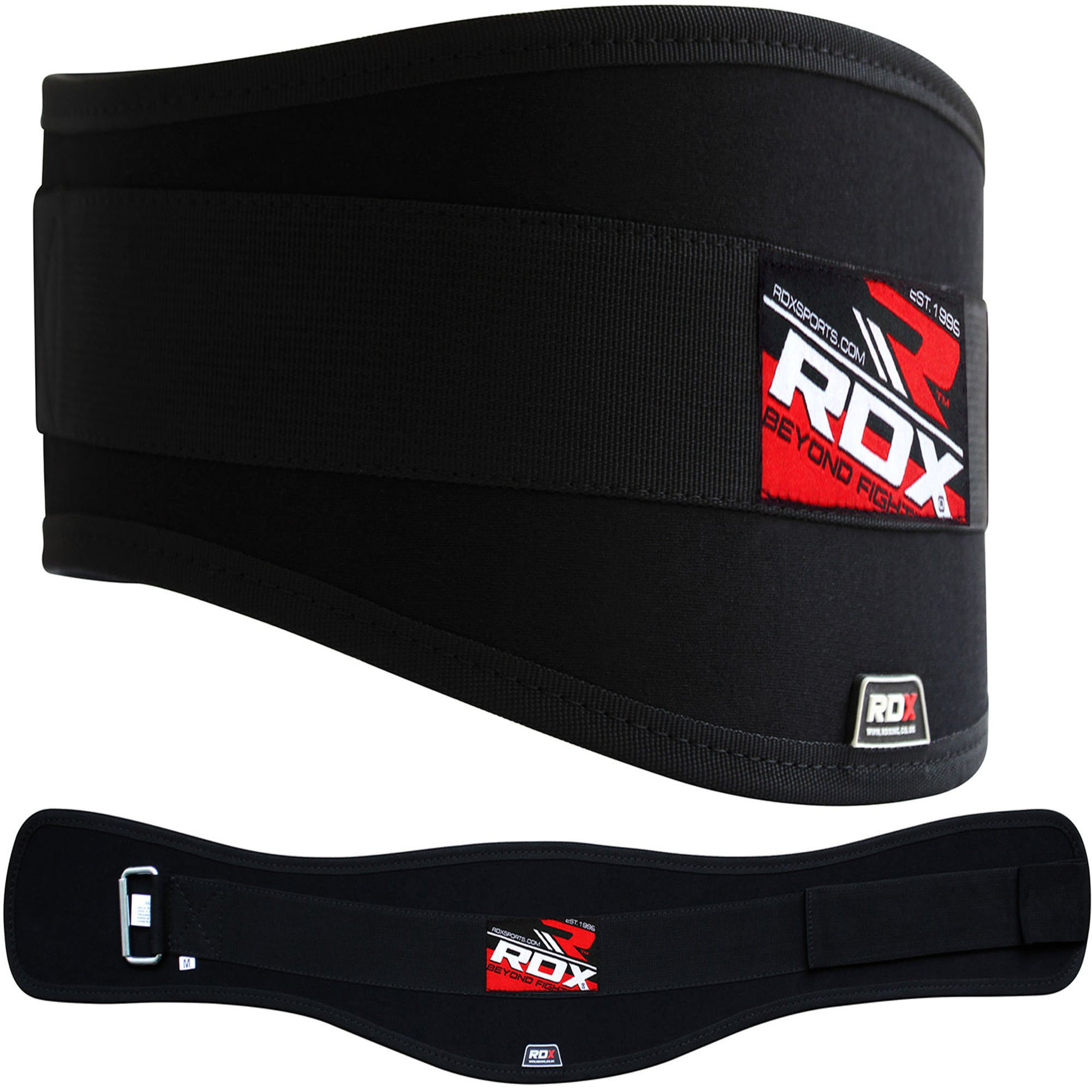 RDX Weight Lifting Neoprene Curve Belt, Black, Large
